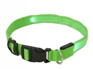 LED obojok: M Max 50cm – zelený