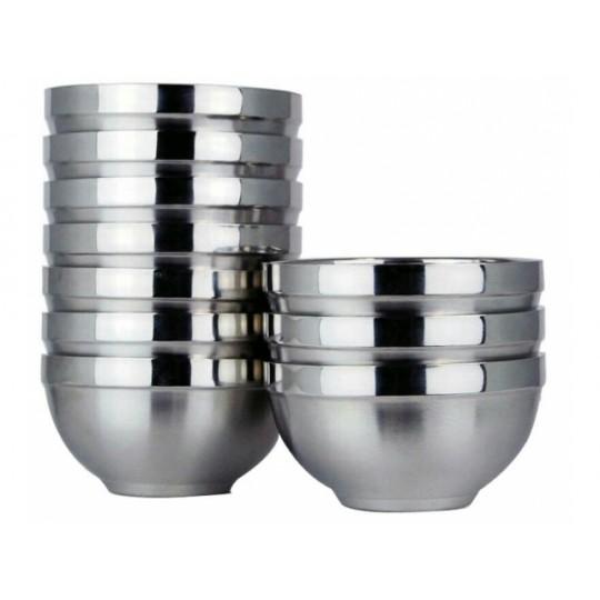 Kovová miska s dvojitým dnom