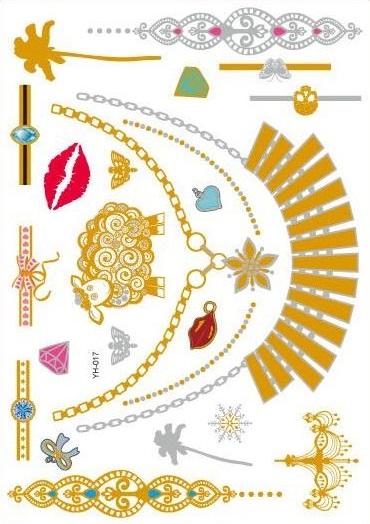 Metalické tetovačky na telo - vzor 017