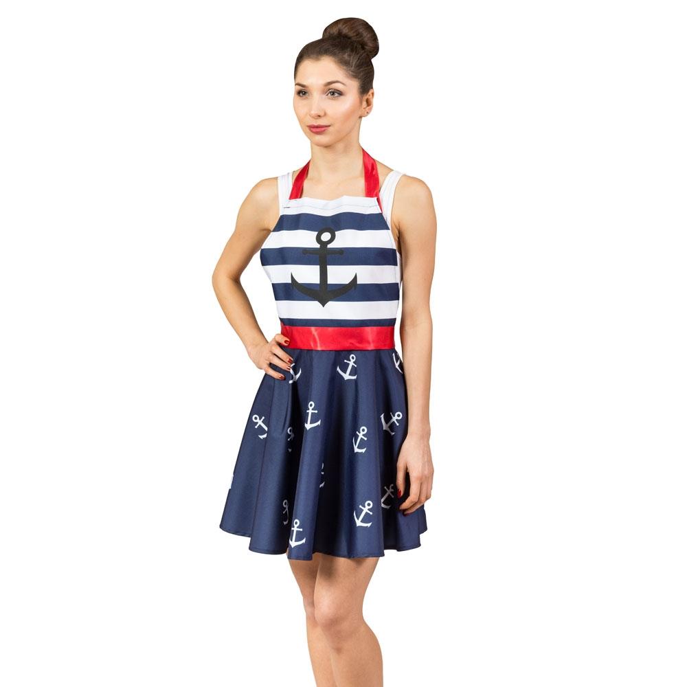Zástera pre ženu - námornícke šaty